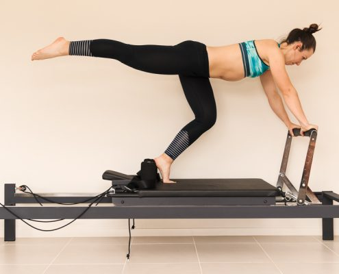 Girl Doing Clinical Pilates
